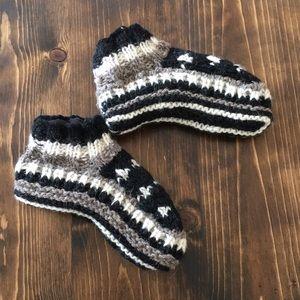 Handmade in Nepal - Wool Knit Booties - Big Kid